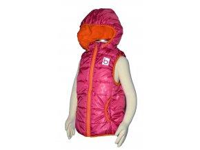 Dětská lehká vesta s kapucí PIDILIDI PD0974-01 vel.86-158 - růžová