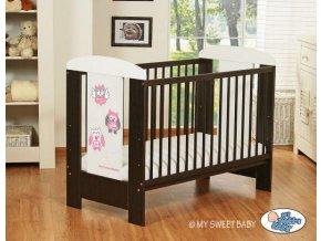 Dětská postýlka My Sweet Baby - SOVY ořech + bílá > varianta 426 růžová
