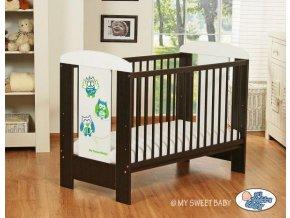 Dětská postýlka My Sweet Baby - SOVY ořech + bílá > varianta 428 zelená
