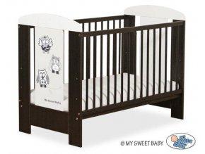 Dětská postýlka My Sweet Baby - SOVY ořech + bílá > varianta 430 šedá + černá