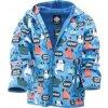 chlapecká softshellová bunda s potiskem a pevnou kapucí, Pidilidi, PD1088-02, modrá