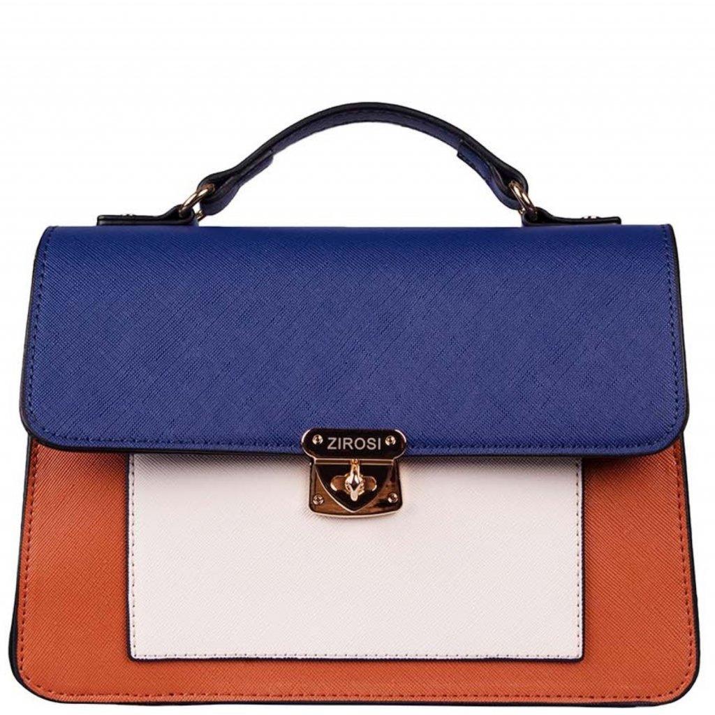 Hnědo-modrá kabelka LORINE