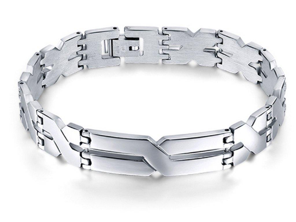 Pánský náramek xXx ve stříbrném provedení z chirurgické oceli ... f0f2d355172