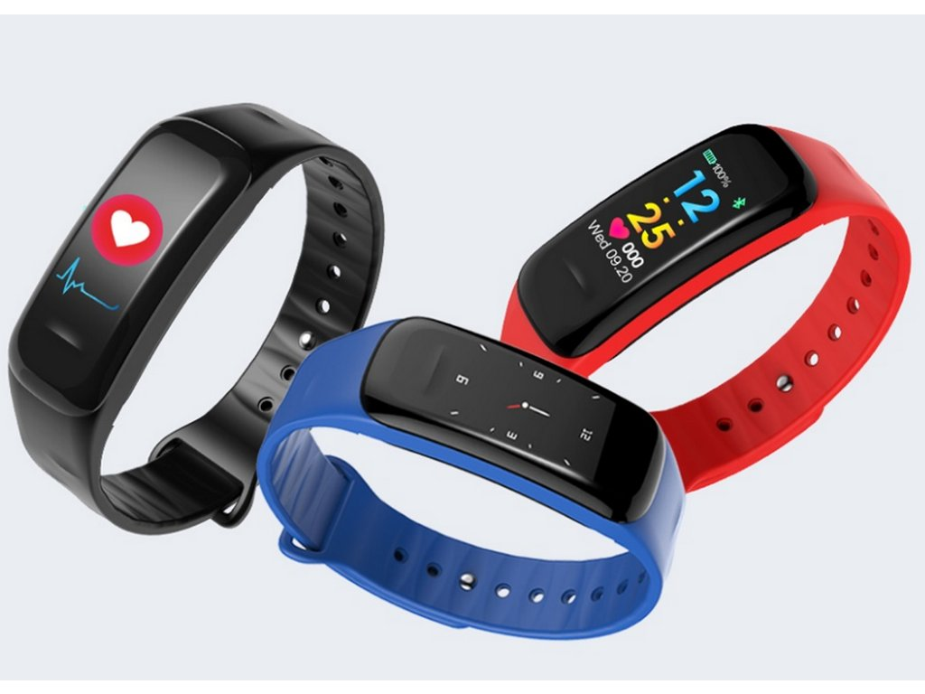 Sportovní hodinky- fitness náramek C18- 3 barvy SMW00027 (Barva Modrá) 1510b33767
