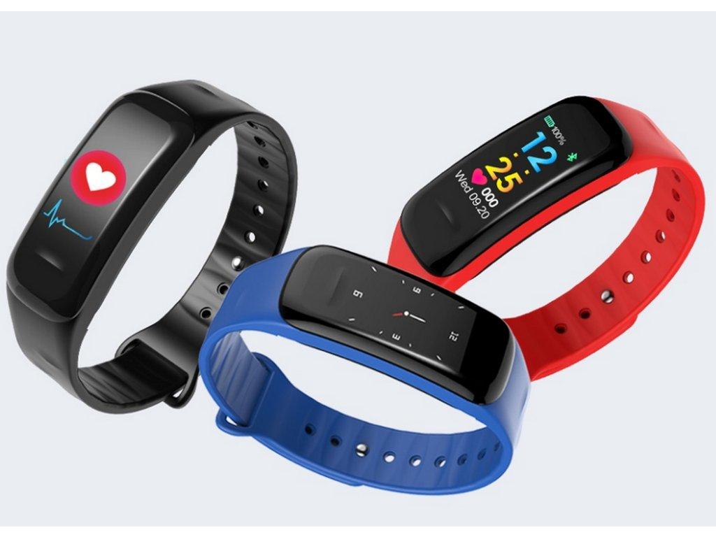 5760c7c8f Sportovní hodinky- fitness náramek C18- 3 barvy SMW00027 (Barva Modrá)