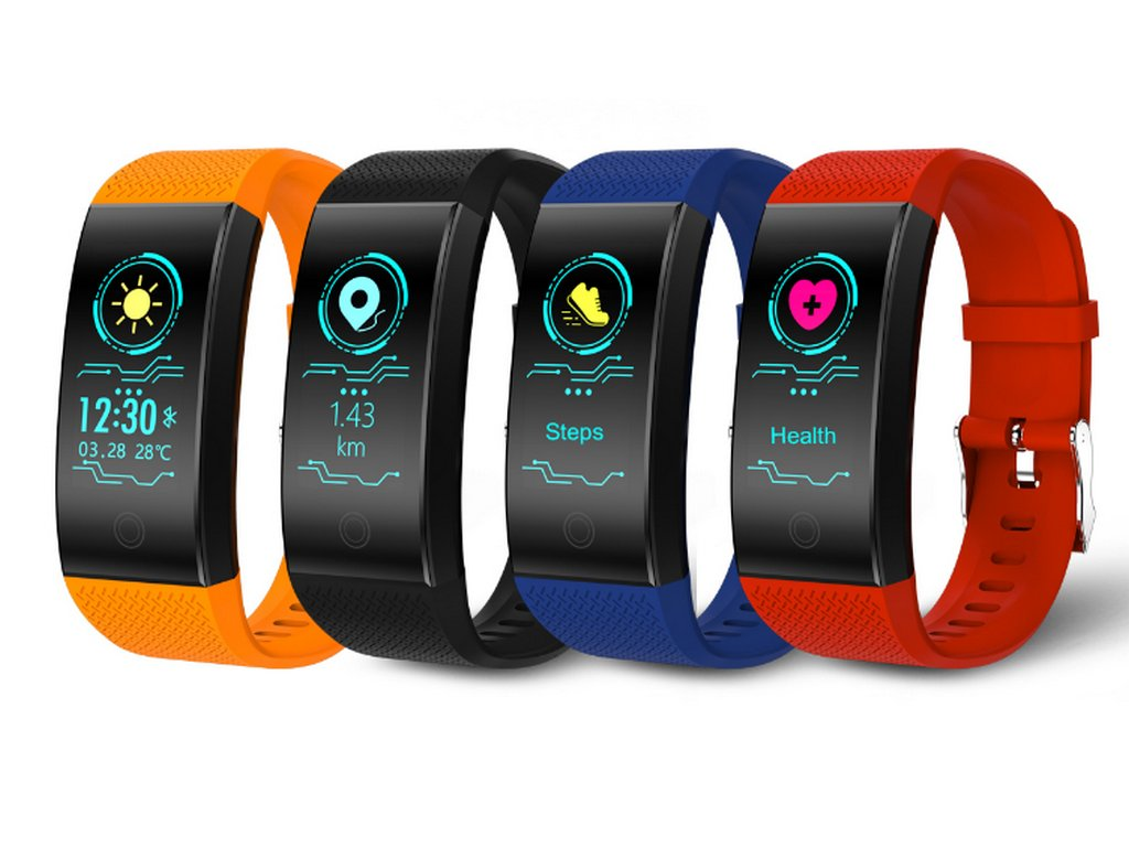 Voděodolný fitness náramek QW18 s barevným displejem- 4 barvy SMW00029  (Barva Oranžová) 3eb515752d9
