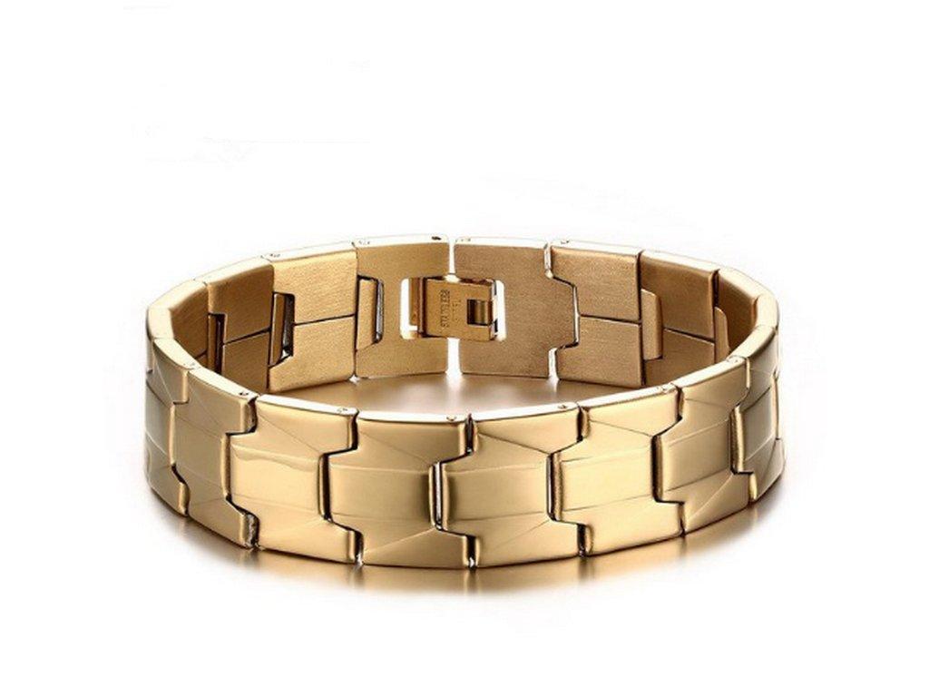 Dámský zlatý náramek z kvalitní chirurgické oceli CB000100