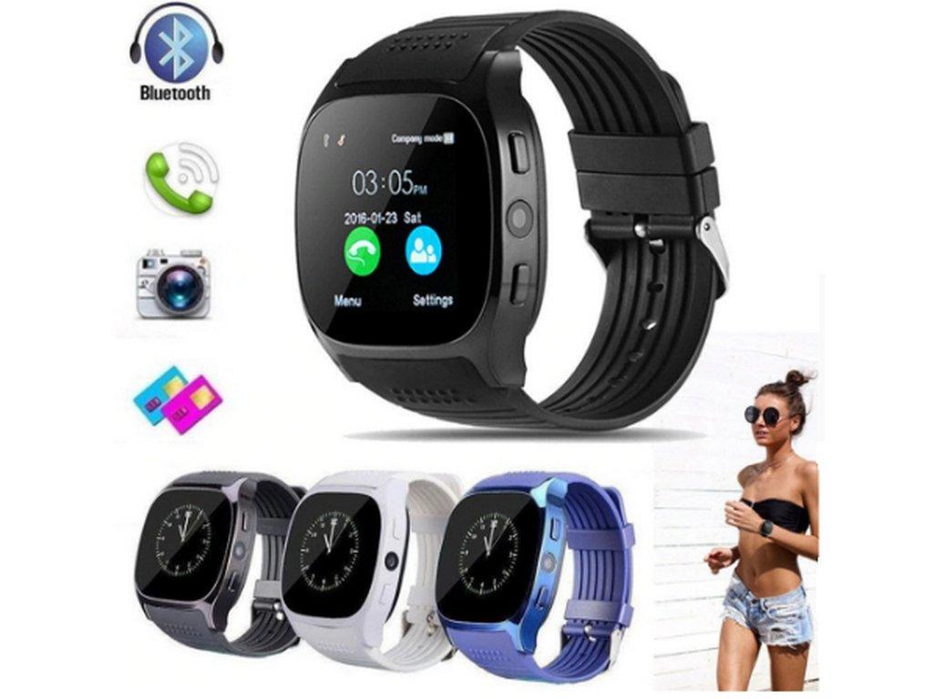 Smartwatch- Chytré hodinky T8 SMW31 (Barva Modrá) 1c172595bc