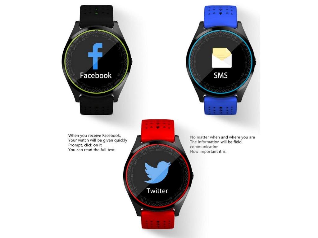 eb325a8f4 Smartwatch V9- 6 barev SMW38 (Barva Zelená- spodní černá)
