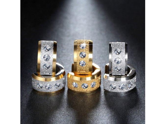 Náušnice z chirugické oceli ve 3 barevných provedeních SE000044