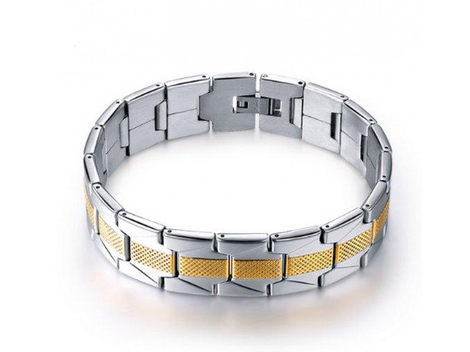 491605 naramek z chirurgicke oceli stribrno zlaty cb000089