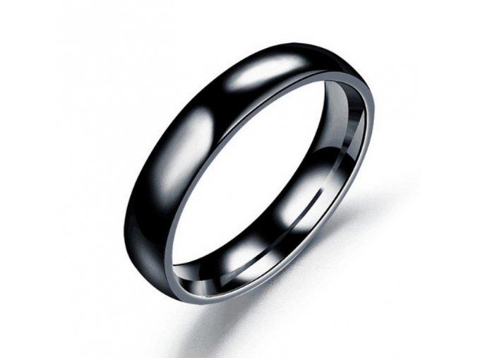 Prsten z chirurgické oceli- Classic- černý SR00006 (Velikost 9)