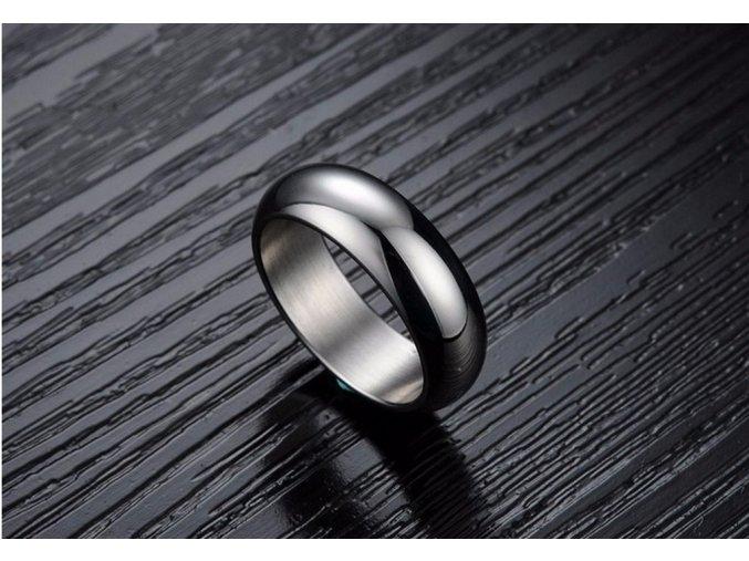 Prsten kroužek Classic II z chirurgické oceli- stříbrný SR000012 (Velikost 9)