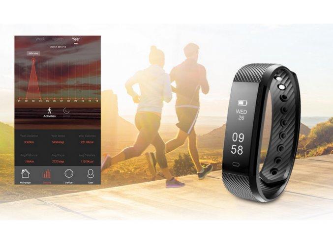 Fitness náramek M115 HR Plus- 5 barev SMW00022 (Barva Zelená)