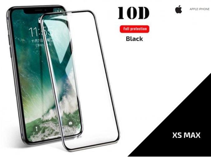 492582 tvrzene sklo 10d full cover pro iphone xs max 0 3mm cerna tvsk16