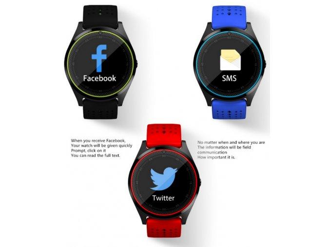 Smartwatch V9- 6 barev SMW38 (Barva Zelená- spodní černá)