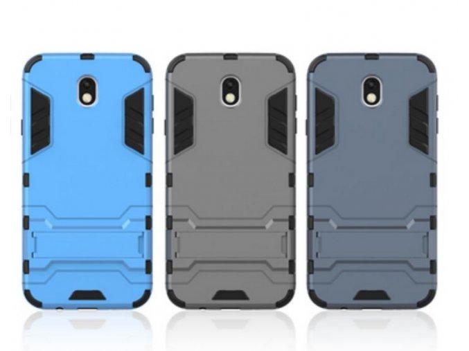 Pevný zadní kryt pro Samsung J7-2017 se stojánkem PZK6 (Barva Šedá)