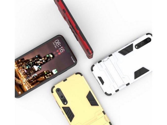 Army pevný zadní kryt se stojánkem pro Huawei P20 PZK24 (Barva Zlatá)