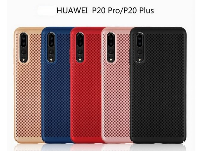 Pevný tenky ochranný kryt pro Huawei P20 PZK82 (Barva Zlatá)