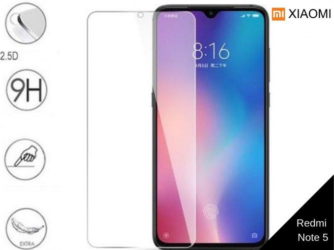 Tvrzené bezrámečkové ochranné sklo 9H pro Xiaomi Redmi Note 5 TVSK70