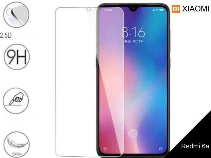 Tvrzené bezrámečkové ochranné sklo 9H pro Xiaomi Redmi 6a TVSK72