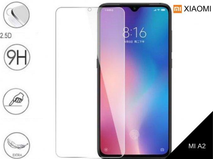 Tvrzené bezrámečkové ochranné sklo 9H pro Xiaomi MI A2 TVSK75