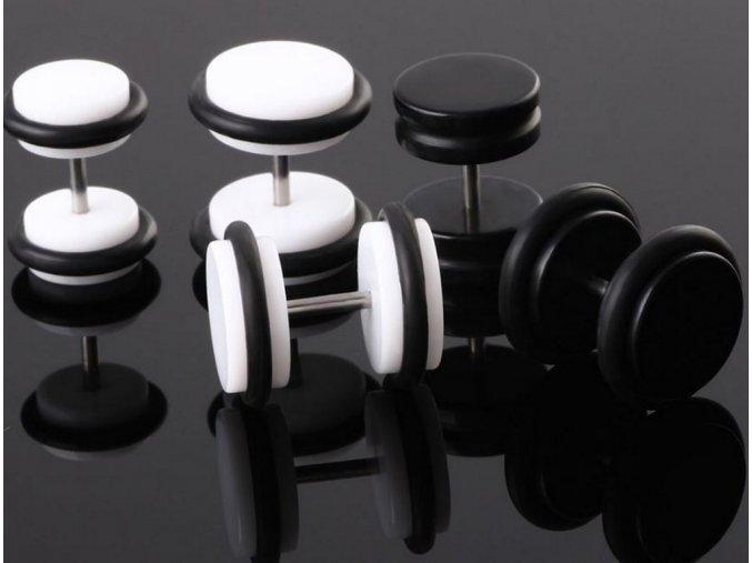 Akrylové náušnice pecičky se silikonem - 2 barvy SE99
