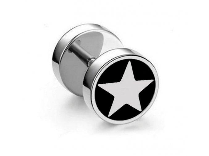 Náušnice z chirurgické oceli - motiv Hvězdička