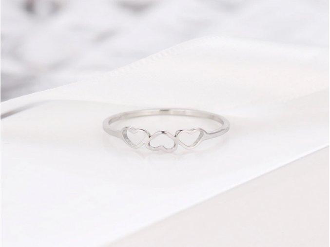 Dámský prsten trojité srdce STR (Kopírovat)