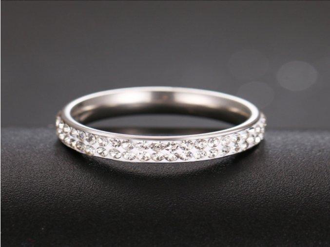Dámský prsten s dvojitými zirkony STR (1) (Kopírovat)