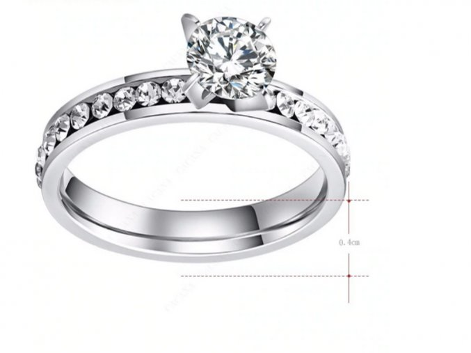 Dámský prsten se zirkonem a bočními kamínky STR (1) (Kopírovat)