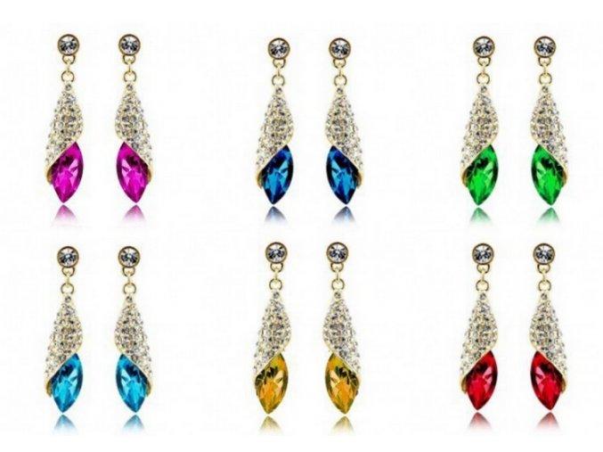 Náušnice Long Drop Earrings- silver CE000037 (Barva Žlutá)