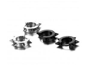 Náušnice z chirurgické oceli SE00003 (Barva Černá)