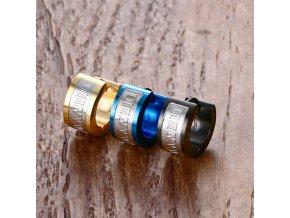 Náušnice z chirurgické oceli SE000013 (Barva Zlatá)
