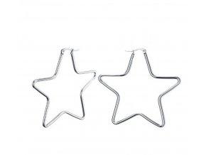Náušnice ve tvaru hvězdičky z chirurgické oceli SE000020