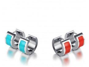 Náušnice z chirugické oceli ve 2 barevných provedeních SE000034 (Barva Tyrkysová)