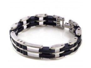 Náramek z chirurgické oceli - trojitý řetěz CB000085