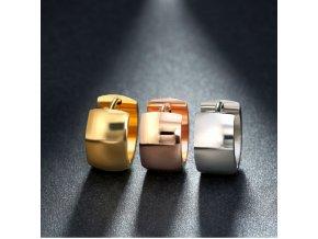 Náušnice kruhy z chirurgické oceli ve 3 barevných provedeních SE000062 (Barva Zlatá)