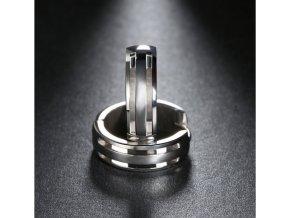 Náušnice- kruhy z chirurgické oceli ve stříbrném provedení SE000063