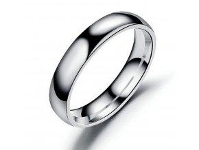 Prsten z chirurgické oceli- Classic- stříbrný SR00004 (Velikost 9)