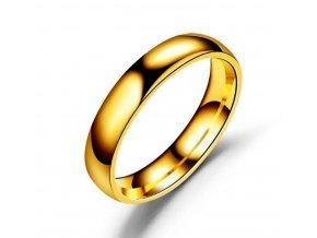 Prsten z chirurgické oceli- Classic- zlatý SR00005 (Velikost 9)