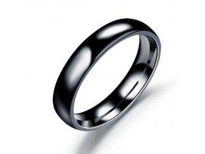 Prsten z chirurgické oceli- Classic- černý SR00006