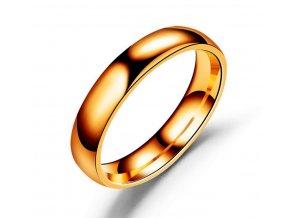 Prsten z chirurgické oceli- Classic- bronzový SR00007 (Velikost 9)