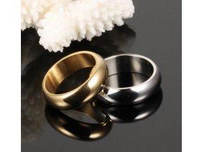 Prsten kroužek Classic II z chirurgické oceli- zlatý SR00013