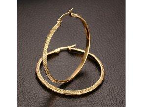 491800 nausnice kruhy z chirurgicke oceli ve zlatem provedeni stripy se000067