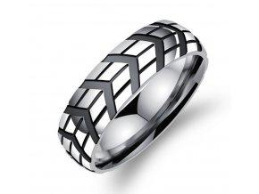 Prsten z leštěné chirurgické oceli Notch SR000025