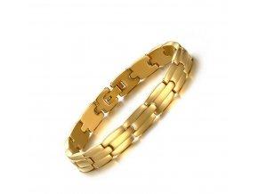 Náramek z chirurgické oceli ve zlaté barvě Classic CB000096