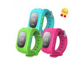 Smart watch hodinky Q5 s GPS- 6 barev SMW00025 (Barva Zelená)