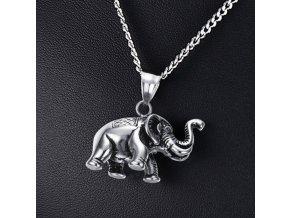 Slon pro štěstí- náhrdelník z chirurgické oceli PN0000144