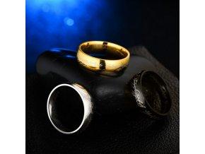 Prsten Pán prstenů z chirurgické oceli- zlatý SR000055 (Velikost 9)